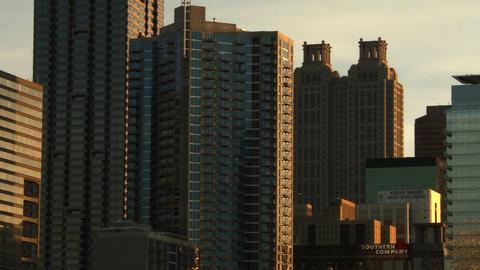 Panning shot of the Atlanta Skyline Footage