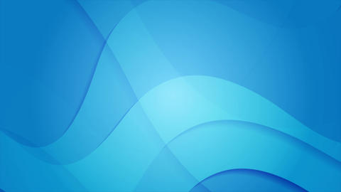 Abstract blue wavy video animation clip Animation