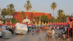 Riverside evening market,Vientiane,Laos Footage