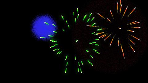 Fireworks alpha transparence background loop 3 Animation