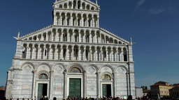 Italy Tuscany Tower of Pisa 17 facade of splendid cathedral Footage