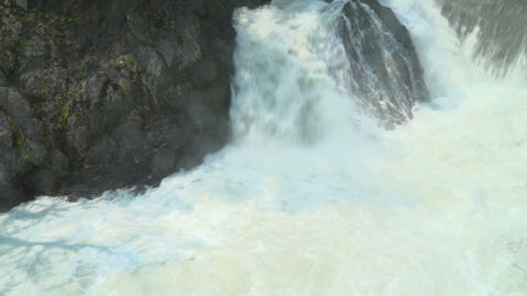 Mountain stream and and waterfall Footage