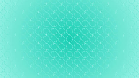 Animation gradient background with hexagon and lines Live Action