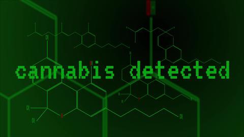 Digital animation - a group of cannabinoid molecules Footage
