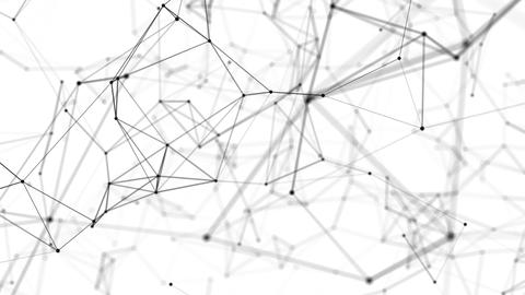 Interweaving the network in the black and white three-dimensional space Animation