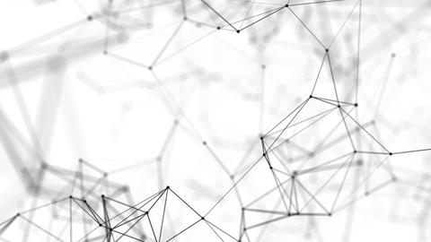Virtual black and white plexus space Animation