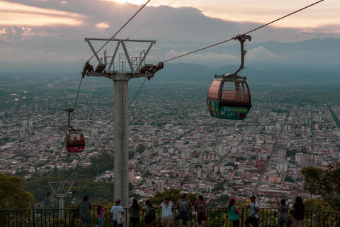 Cableway in the city of Salta, Argentina Photo