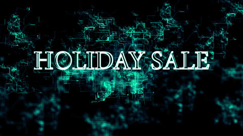 "Digital network. Sign ""Holiday Sale"" Footage"