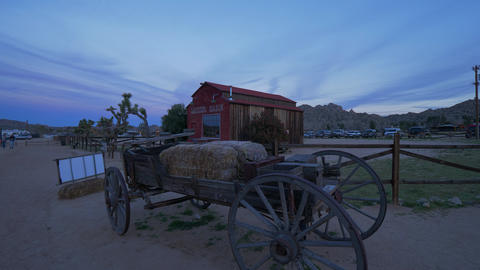Historic Pioneertown in California in the evening - CALIFORNIA, USA - MARCH 18 Live Action