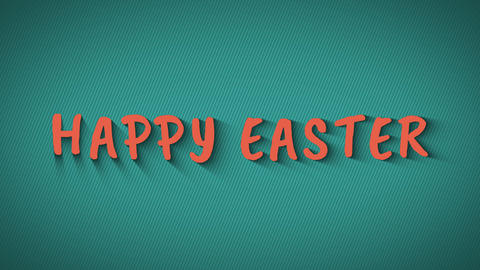 Text with shadows 'Happy Easter' Live Action