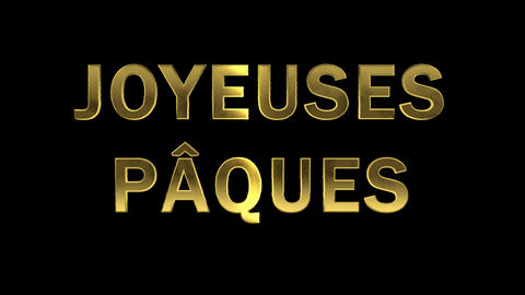 Particles collecting in the golden letters - Joyeuses Paques Live Action