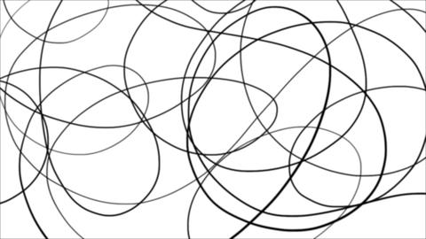 Rotating Black Wavy Lines Black And White Background CG動画素材