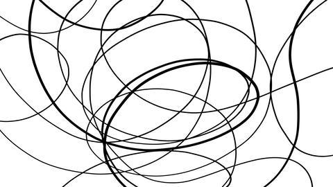 Rotating Black Wavy Lines Black And White Background Animation