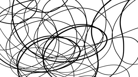 Rotating Black Wavy Lines Black And White Background Animation