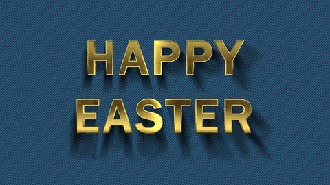 Colored particles turn into blue background and text - Happy Easter Live Action