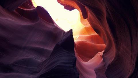 World famous Antelope Canyon - amazing scenery Live Action