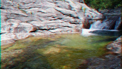 Glitch effect. Bath Youth, the Grand Canyon of Crimea Footage
