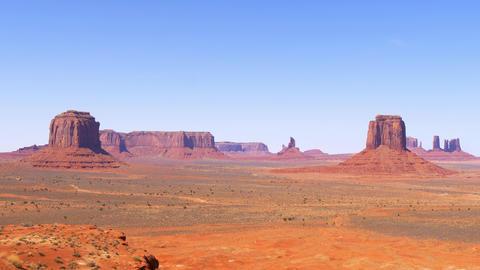 Monument Valley in Utah - famous landmark Live Action