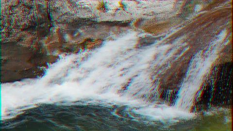 Glitch effect. Grand Canyon. Bath Youth (Kara-Gol lake). Crimea Live Action