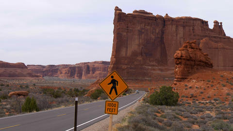 Arches National Park in Utah - famous landmark Footage