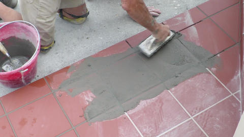 tiler who restores the laying of the sidewalk Live Action