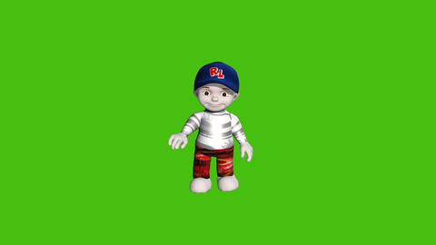 14 animated small cartoon boy with green screen background Animation