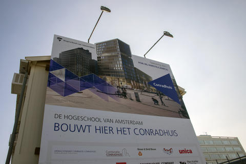 Billboard De Hogeschool Van Amsterdam Builds The Conradhuis Here At Amsterdam The Netherlands フォト