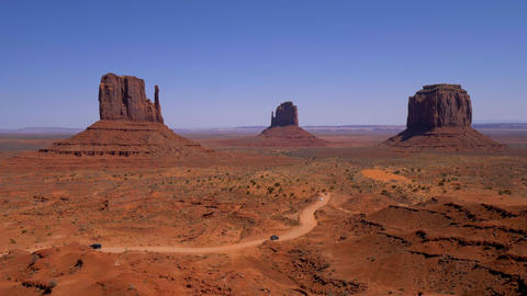 Monument Valley in Utah - famous landmark Live Action