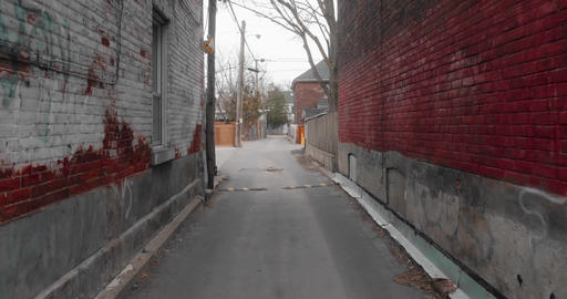 4K establishing shot of an empty alley in a big city Footage