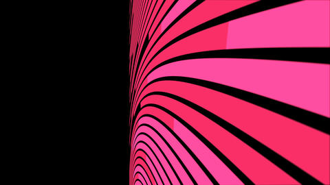 Abstract cruve line moving motion pink color on dark background 4K animation, with copy space Animación
