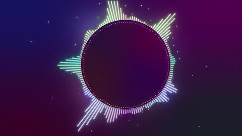 Audio Spectrum Music Visualizer 05 Animation