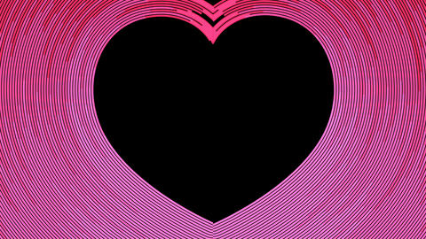 Abstract cruve line heart shape moving motion pink color on dark background 4K animation, with copy CG動画素材