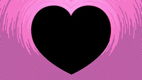 Abstract cruve line heart shape moving motion pink color... Stock Video Footage