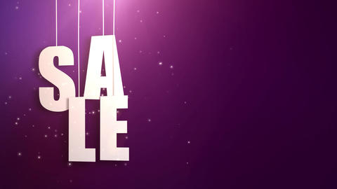sales letter just hung on string with beautyful pink background Animation