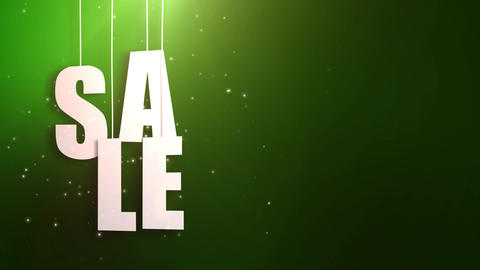 sales letter just hung on string with beautyful green background Animation