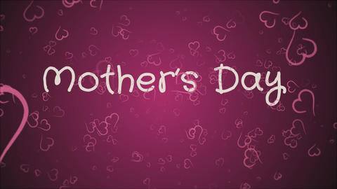 Animation Mother's day, greeting card Footage