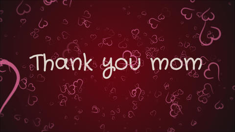 Animation Thank you mom, mother's day, greeting card Footage