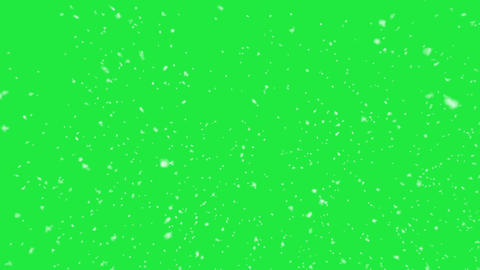 Snowing animation on green screen. Loopable, 4k Resolution Animation