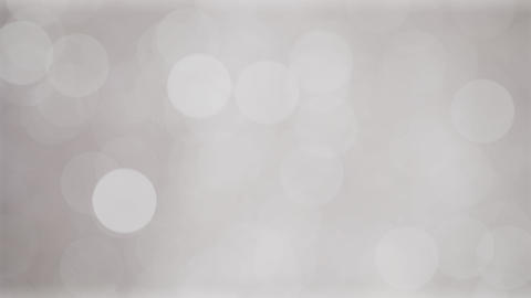 Shiny soft silver white bokeh background with flickering light particles Animation