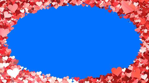 Glitter Heart Frame 5 Dh Red 4k Animation