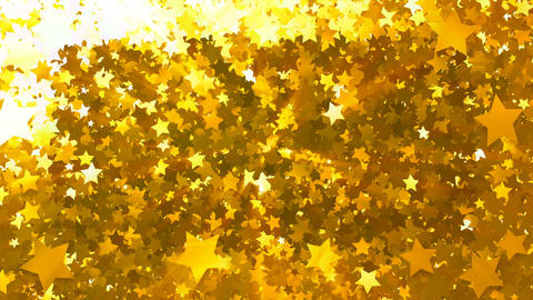 Glitter Star Frame 5 Bs Gold 4k Stock Video Footage