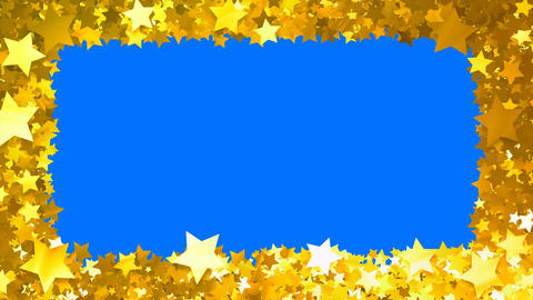 Glitter Star Frame 5 Bs Gold 4k Animation