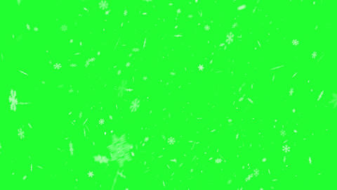 Snowflakes background animation on green screen Animation