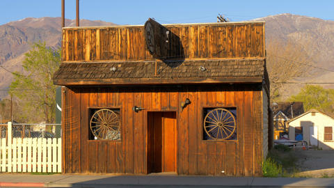 Wild West Bar in the historic village of Lone Pine - LONE PINE CA, USA - MARCH Live Action