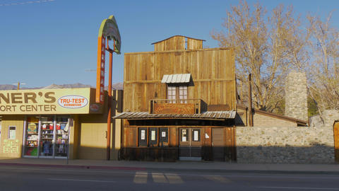 Wild West Saloon in the historic village of Lone Pine - LONE PINE CA, USA - Footage