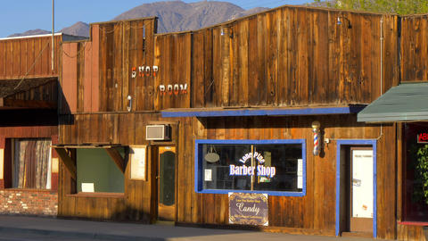 Old Barber Shop in the historic village of Lone Pine - LONE PINE CA, USA - MARCH Footage