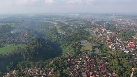 Aerial view of Ubud Bali Live Action