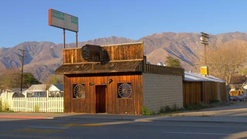Wild West Bar in the historic village of Lone Pine - LONE PINE CA, USA - MARCH Footage