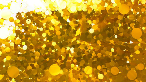Glitter Circle Frame 5 Bc Gold 4k Stock Video Footage