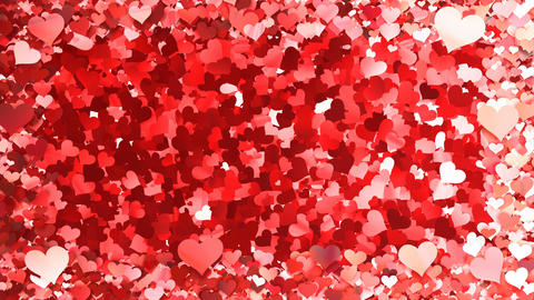 Glitter Heart Frame 5 Bh Red 4k Animation